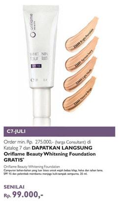 produk kecantikan whitening foundation